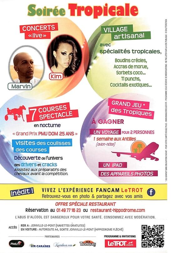 Soiree tropicale Hypodrome de Vincennes -2