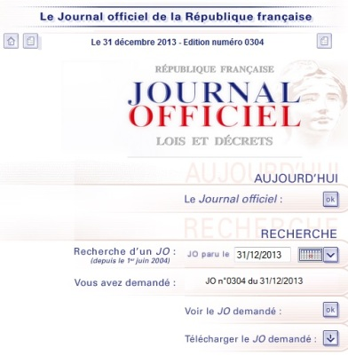 JO du 31-12-13 decret Lurel - Carburant