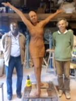 © Martinique 1ère. La statue de Clarissa avant son départ en Martinique.