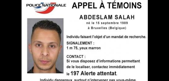 L'appel à témoins lancé par la police française pour Salah Abdeslam
