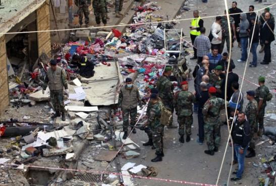 Le lieu du double attentat à Beyrouth, le 13 novembre 2015 - Bilal Hussein/AP/SIPA